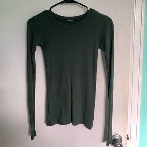 Hunter Green Thermal Long Sleeve Shirt